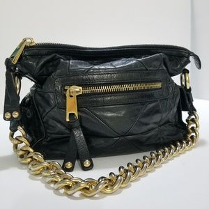 Marc Jacobs quilted black leather purse handbag